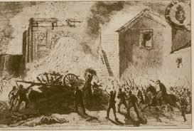 I garibaldini entrano a Monterotondo - 1867