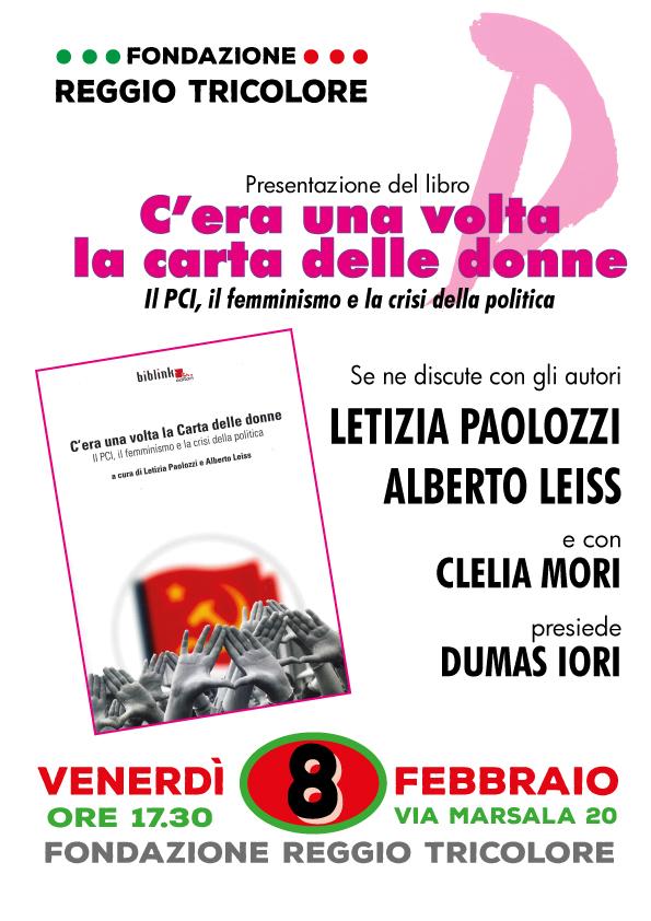C'era una volta la Carta delle donne: incontro l'8 febbraio a Reggio Emilia