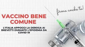 Togliere i brevetti. I vaccini sono bene comune