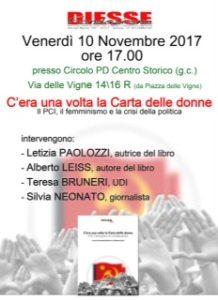 """""""C'era una volta la Carta delle donne"""" a Genova venerdì 10"""